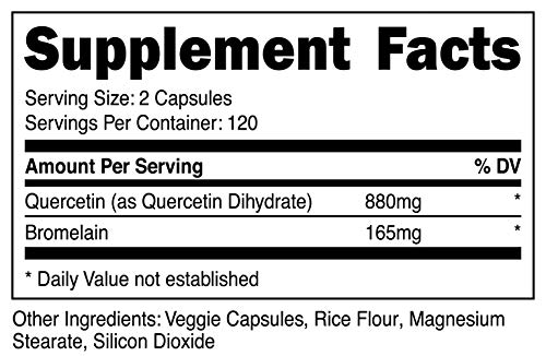 Nutricost Quercetin 800mg, 240 Caps With Bromelain (2 Bottles) by Nutricost (Image #1)
