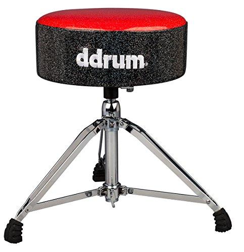 ddrum MFAT RB Mercury Fat Throne, Red Top Black - Ddrum Thrones Drum