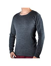 100% Merino Wool Men's Midweight Base Layer Thermal Underwear Tops Long Sleeve Crew