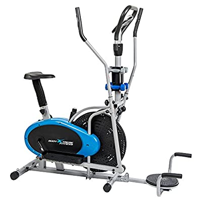 6-in-1 Body Xtreme Fitness Elliptical Trainer Exercise Bike - Home Gym Equipment, New Compact Workout Design, Hand Weights, Resistance Bands BXF001-T/PU + BONUS COOLING TOWEL!