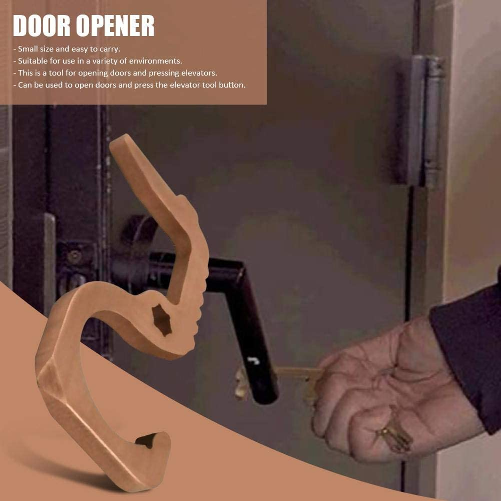 Handheld Door Opener Elevator Keychain Tool Stylishbuy Portable EDC Non-Contact Door Opener