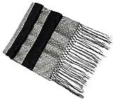 Beaded Paisley Brocade Silk Stole Scarf Wrap Shawl Table Runner Fringe Black & Silver