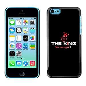 TopCaseStore / la caja del caucho duro de la cubierta de protección de la piel - The King - Apple iPhone 5C