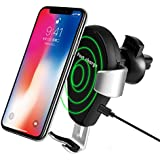 Wireless Car Charger Mount,Beasyjoy Car Air Vent Phone Holder Cradle,Fast 10W Charging for Samsung Galaxy S8/S8 Plus/S7/S6 Edge+/Note 5,5W for iPhone 8/8 Plus,iPhone X and Others Qi Enabled Phones