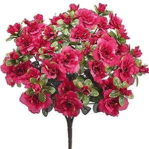 """25"""" Silk Azalea Flower Bush -Red (Pack of 12) 34"""