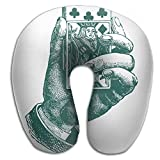 Ministoeb Creative U Shaped Neck Pillow Poker Hand Art Design Comfortable Soft Neck Support Pattern Pillow For Rest,Travel,Car,Airplane,Bed,Sofa