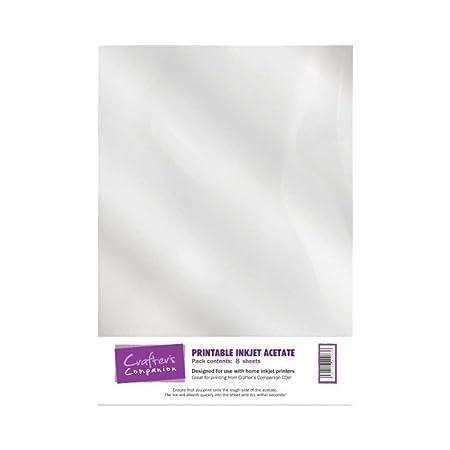Crafters Companion ACETPR001, Tarjeta imprimible, blanca, 100 ...