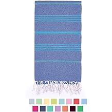 "Eshma Mardini %100 Cotton Swimsuit Cover Up & Bath Beach Travel Towel - 39"" x 70"" - ( Denim Blue - Blue )"
