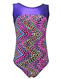 Girls Gymnastics Leotard - kids, youth and teen sizes (10 prints available)