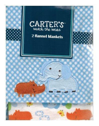 Carter's Watch the Wear - 2 Flannel Blanket Set - Elephant/Rino by Carters Watch the Wear [並行輸入品]   B014QGMZBK