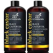 ArtNaturals Black Castor-Oil Shampoo and Conditioner – (2 x 16 Fl Oz) – Strengthen, Grow and Restore – Jamaican Castor – For Color Treated Hair