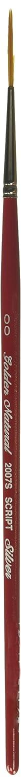 Silver Brush 2007S-2/0 Golden Natural Hair and Taklon Short Handle Blend Brush, Script Liner, Size 2/0 Silver Brush Limited