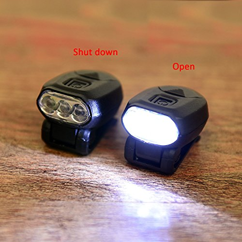ps Freehawk Hat Clip Headlamp 3 LED Hands Free Baseball Caps 360°Rotating 90°Adjustable Zoomable Light for Fishing Camping Hiking 2CR2032 3v (2pcs) (Led Hat Light)