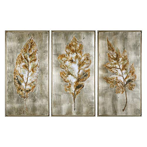 Uttermost Champagne Leaves 3-Piece 40 3/4