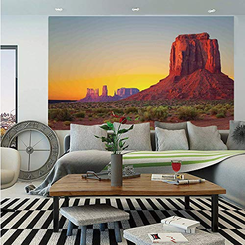 (SoSung House Decor Huge Photo Wall Mural,Sunset in Famous Grand Canyon Archaic Natural Wonders of World Heritage Photo,Self-Adhesive Large Wallpaper for Home Decor 100x144 inches,Red Yellow)