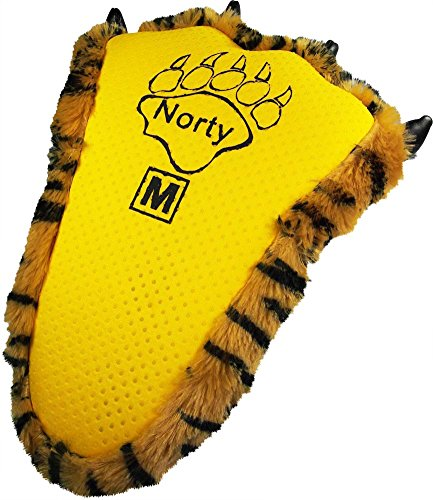 NORTY Grizzly Bear Stuffed Animal Claw Slippers - Plush Paw Slippers - Furry Animal Slippers - Toddlers, Kids & Adults - Cosplay & Everyday Wear Brown Bengal Tiger