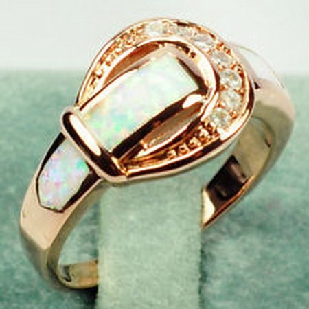 [jacob alex ring CZ Opal Rings Rose Gold Filled Moissanite Unisex Size 10 Wedding Jewelry] (Play Doh Sexy Costumes)