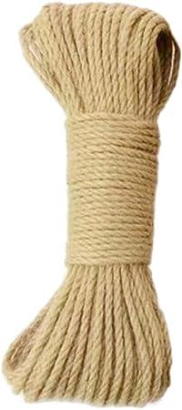 30M Diameter Hemp Rope Natural Thick Jute Hemp Rope String Twine for DIY Craft