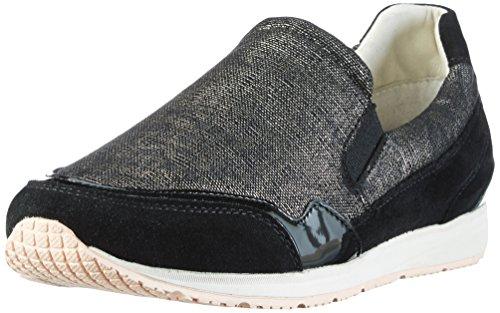 D A Geox Wisdom Blackc9999 Sneakers Damen Schwarz 4Uqq5Sn