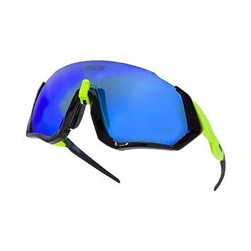 Gafas ciclismo hombre. Polarizadas Flight Jacket. 3 Lentes intercambiables,antivaho, resistentes a impactos.Protección UV400. Ideales para Running, ...