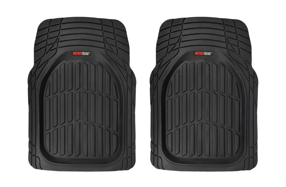 Motor Trend Tortoise Series Rubber Floor Mats Front Seat Protection Rubber Mat (2PC Black) 2P-921-BK__am