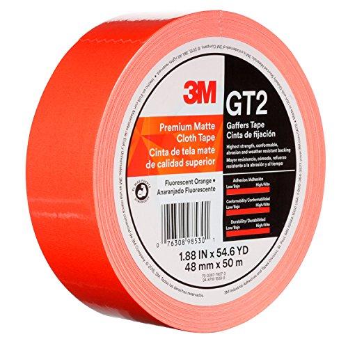 3M 98530 Tape 48 mmx50 M 11 mil, GT2, Fluorescent Orange