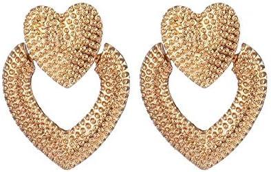 Moda Vintage Pendientes de aleación geométrica de oro para mujeres Declaración Punk Pendientes colgantes de metal Regalos de joyería