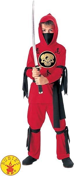 Amazon.com: Disfraz de ninja rojo para niños, L: Toys ...