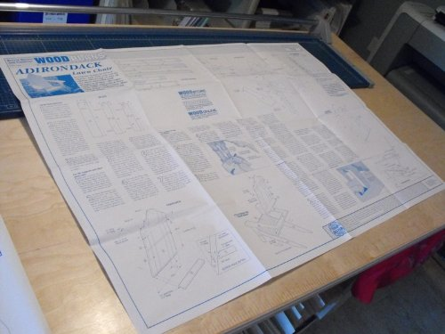 A Full Size Woodworking Pattern and Instructions to Build a Adirondack Lawn Chair