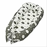 Ukeler Cotton Portable Baby/Infant Travel Bed, Crib, Bassinet Or Penguin Baby Nest for Baby Lounger, Infant Lounger, Newborn Lounger: Breathable, Hypoallergenic-Perfect for Co-Sleeping