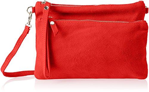 Chicca Borse 1512 - Bolso de hombro Mujer Rojo (Red Red)