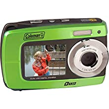 Coleman Duo2 2V8WP Dual Screen Shock & Waterproof Digital Camera (Green)