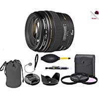 Canon EF 85mm f/1.8 USM Lens (2519A003) USA - Full Accessory Basic Lens Bundle Package Deal
