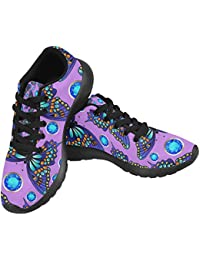 Women's Jogging Running Sneaker Lightweight Go Easy Walking Comfort Sports Athletic Shoes Neon Blue