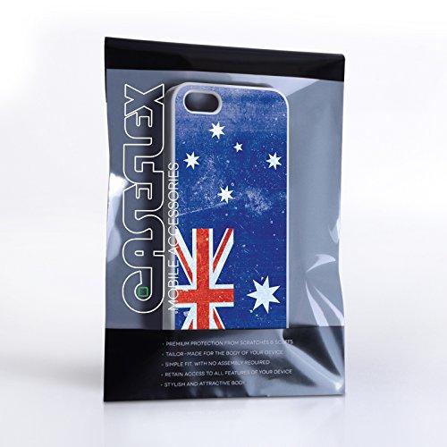 Caseflex iPhone 5 / 5S Hülle Retro Australien Flagge Hart Schutzhülle