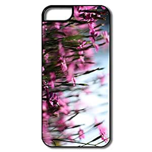 Pink Dianthus Field 5 Case For Apple IPhone White Best Plastic Style