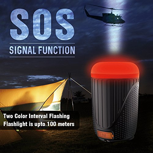 Panoraxy Camping LED Lantern Flashlight,USB Charger Tent Outdoor Light,10400mah Power Bank,500lm Lantern,1800lm Torch,Two-Color SOS,Beast Repellent Atmosphere,for Camping,Emergency,Hurricane by P Panoraxy (Image #3)