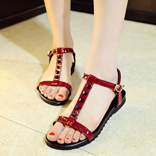 Sandali Zanpa Piatto Classico Red Girls Rivets 6cZvqw7H