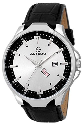 Altedo Analog Day Date Silver  Watch....