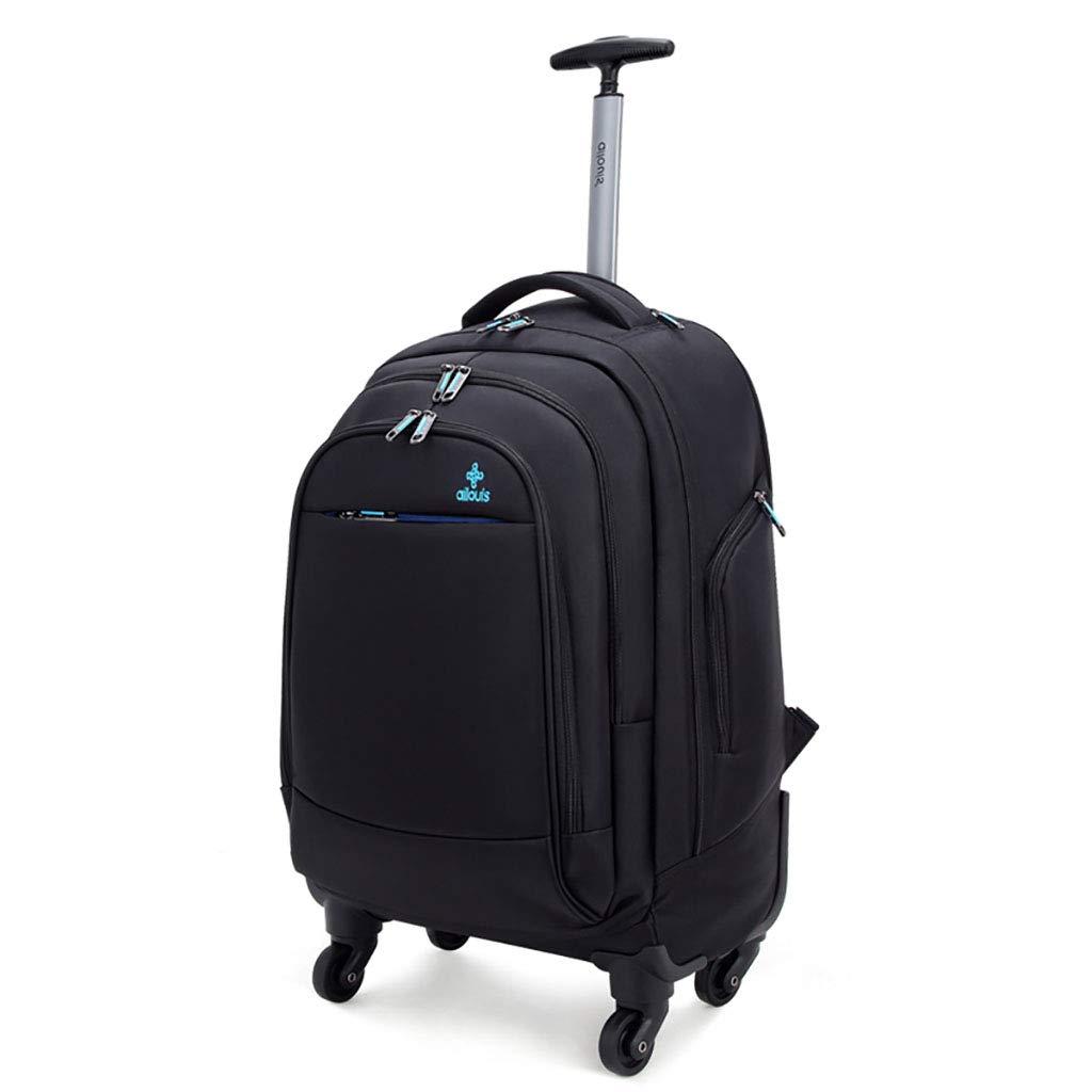 動かされたバックパック、トロリーバックパック極度の軽量のビジネス旅行のバックパック旅行のための車輪が付いているナイロン圧延のバックパック   B07MNV88CS