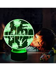 C Vreemdeling Dingen 3D Nachtlampje LED Illusie Speelgoed Lamp 16 Kleurverandering Kinderkamer Decor Lamp met Afstandsbediening & Smart Touch, Kerstmis en Verjaardagscadeaus Kids