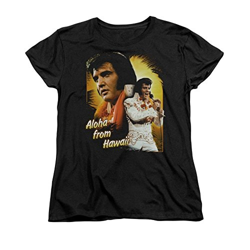 Sons of Gotham Elvis Presley Aloha Women's T-shirt 2xl