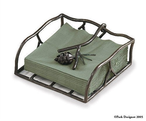 Pine Lodge Pinecone Paper Luncheon Napkin Holder - Park Designs