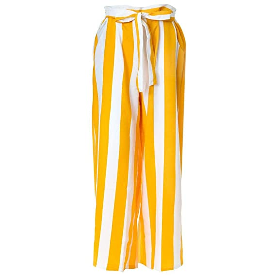 up-to-datestyling biggest selection purchase original Formal Yellow & White Striped Lining Trouser: Amazon.in ...