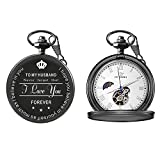 To My Husband Pocket Watch Valentine's Day Gifts for Him Gifts to Men (Mechanical Pocket Watch)