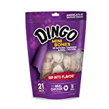 Cheap Dingo Mini Bones Made From Natural Rawhide And Real Chicken, 21-Count