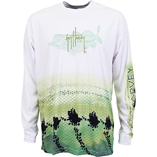 Guy Harvey Long Sleeve Performance Bass T-shirt (XX-Large, (Bass Pro Fishing Shop)