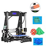 KKmoon High Precision Desktop 3D Printer Kits DIY Self Assembly Acrylic Frame Reprap i3 with TF Card Max. Printing Size 220220240mm Support ABS/PLA/TPU/Wood Filament