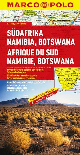 MARCO POLO Kontinentalkarte Südafrika, Namibia, Botswana 1:2 Mio. (MARCO POLO Kontinental /Länderkarten)