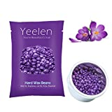 Yeelen 300g Violet Hard Wax Beans Hot Wax Beads for Hair Removal Stripless & Painless Natural Ingredients Wax for Legs, Underarms, Brazilian Bikini, Eyebrow, Upper Lip, Face & Body